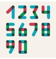 Numbers set modern style Icons vector image vector image