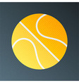 Basketball halftone stylized vector image