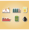 color icons with oil and petroleum theme vector image