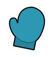 cute christmas glove cartoon vector image