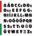 cute funny childish hungarian alphabet vector image