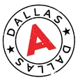 Dallas stamp rubber grunge vector image