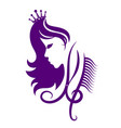 face of a girl with a crown for a beauty salon vector image