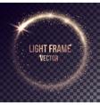 golden light frame vector image
