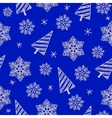 hand drawn seamless Christmas pattern vector image