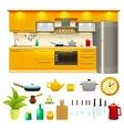 Kitchen Design Icon Set vector image