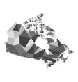 Map Canada polygon vector image