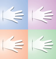 paper hands vector image