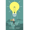 Search Idea Business concept cartoon vector image