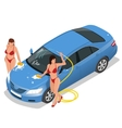 Services car washing Car wash and auto service vector image