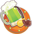 st patrick day symbol the green beer vector image