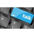 talk word with icon on keyboard keys button vector image