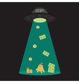 UFO debt cut or steal your money budget business vector image