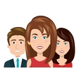 character women and man smiling recruiter employee vector image