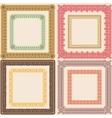 Set of vintage calligraphic frames vector image vector image