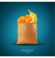 pack with fruit vector image vector image