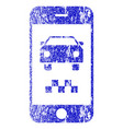 smartphone taxi car textured icon vector image