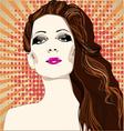 Girl with beautiful haircut vector image