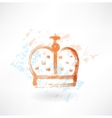 crown grunge icon vector image vector image