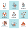 Medical research flat vector image