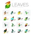 Leaf logo set vector image vector image