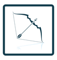 Bow and arrow icon vector image