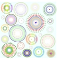 Abstract background floral design element vector image