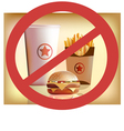 Fastfood harm for health vector image