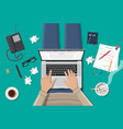freelance writer or journalist workplace vector image