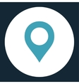 Map Marker flat blue and white colors round button vector image