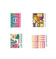 set geometric abstract logo of modern vector image