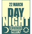 Spring equinox day party banner vector image