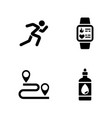 sprint simple related icons vector image