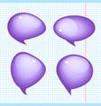 set of realistic bubbles vector image