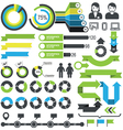 Infographics - statistic elements and icons vector image vector image