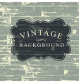 vintage wooden background vector image vector image