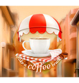 Cup of coffee an invitation to a cup of coffee vector image vector image