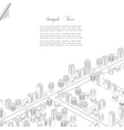 Architecture concept background vector image