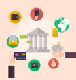 banking concept set of flat icon banking finance vector image