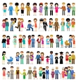 Big set of family life in style flat design vector image