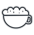 cup coffee drink isolated icon vector image