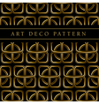 gold clover shape seamless pattern in ar deco vector image