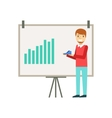 Marketing Manager Doing Presentation With Chart vector image