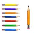 Set of pencils vector image