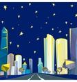01 Polygonal night cityscape vector image