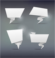 Abstract white origami banners design element vector image vector image