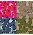 hearts camouflage vector image vector image