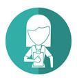 medical staff female clipboard health shadow vector image