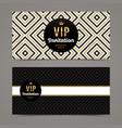 template design for vip invitation vector image vector image