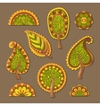 Decorative flat style trees vector image